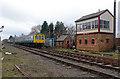 SK3903 : Market Bosworth signal box, Battlefield Line by Chris Allen