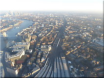 TQ3379 : The lines out of London Bridge from The Shard by Marathon