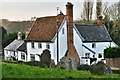TM2684 : Redenhall: Dwellings in High Road including Yew Tree Cottage by Michael Garlick