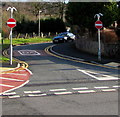 SN7905 : No Entry signs, School Road, Crynant by Jaggery