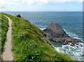SN1045 : Pembrokeshire Coast Path at Careg Wylan by Mat Fascione