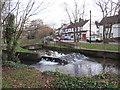 TQ3065 : Weir on the Wandle, Beddington by Malc McDonald