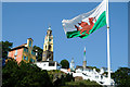 SH5837 : Flying the flag at Portmeirion by Jeff Buck