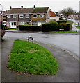 ST3090 : Grass triangle on a Malpas corner, Newport by Jaggery
