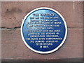 SJ4066 : Plaque on the City Wall in Eastgate Street, Chester by David Hillas
