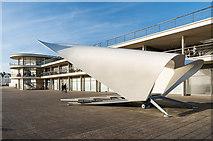 TQ7407 : Bandstand and De La Warr Pavilion by Ian Capper