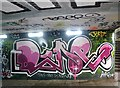 TG2208 : The Grapes Hill underpass - graffiti by Evelyn Simak
