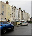SO8318 : Row of three-storey housing, Oxford Street, Gloucester by Jaggery