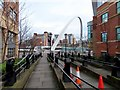 NZ2564 : Steps to the Quayside and Millennium Bridge by Steve Daniels