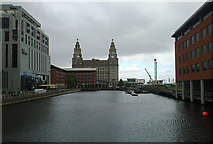SJ3390 : Princes Dock and The Royal Liver Building by habiloid