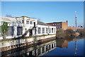 TQ1883 : Derelict Canalside Factory by Des Blenkinsopp