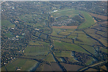 TQ1956 : Epsom Downs racecourse from the air by Thomas Nugent