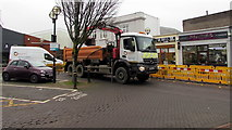 SS7597 : Wales & West Utilities vehicles in Station Square, Neath by Jaggery