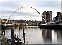 NZ2563 : The Millennium Bridge over the River Tyne by Steve Daniels