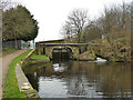 SE1518 : Bridge 11 and lock 9, Huddersfield Broad Canal by Stephen Craven