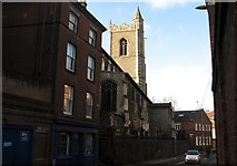 TG2208 : The church of St Lawrence as seen from Westwick Street by Evelyn Simak