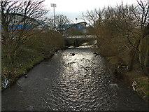 SE1517 : River Colne at Bradley Mills by Stephen Craven