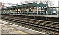 ST3088 : Platform 1 canopy, Newport station by Jaggery