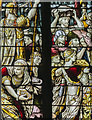 SK3871 : West window detail, St Mary & All Saints' church, Chesterfield by J.Hannan