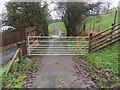 SO0352 : Gate on road to Cefn-dyrys by Hugh Craddock