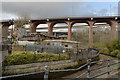 NZ2664 : Ouseburn Farm and the Byker Bridge by habiloid