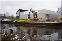 TQ2182 : Grand Union Canal at Powerday Waste Management by Ian S