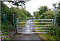 SM8805 : Gate along the Pembrokeshire Coast Path at Gelliswick by Mat Fascione
