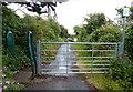 SM8805 : Gate along the Pembrokeshire Coast Path at Gelliswick by Mat Fascione