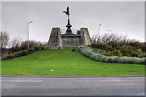SD3245 : The Eros Roundabout, Fleetwood by David Dixon