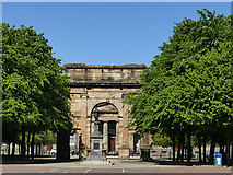 NS5964 : Glasgow Green -  fountain and arch by Stephen Craven
