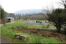 NX4564 : Kirroughtree Visitor Centre & Car Park by Billy McCrorie