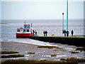 SD3448 : Ferry Slipway at Knott End by David Dixon