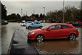 H4572 : Flooding at Crevenagh Park & Ride car park, Omagh by Kenneth  Allen