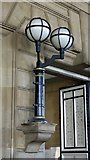 NZ2463 : Lamps at the entrance to Newcastle Central station by Mike Quinn