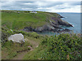 SM7624 : Pembrokeshire Coast Path at Caer Bwdy Bay by Mat Fascione