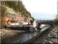 SY1287 : Sidmouth - new footbridge construction by Chris Allen