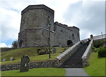 SM7525 : Porth-y-Tŵr gatehouse and bell tower by Mat Fascione