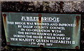 SO4593 : Jubilee Bridge information plaque, Church Stretton by Jaggery