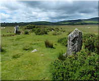 SN1329 : Standing stones at Gors Fawr by Mat Fascione