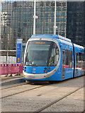SP0686 : West Midlands Metro Tram at Library by Stephen McKay