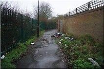 TQ1281 : Lane leading Dane Road, Southall by Ian S