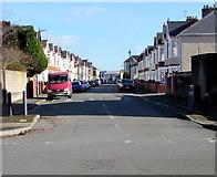 ST3186 : East along Milman Street, Newport by Jaggery