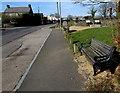 ST1396 : Roadside bench in Gelligaer by Jaggery