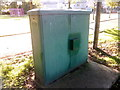 SH5771 : Large Lucy Oxford electrical cabinet in park, Bangor by Meirion