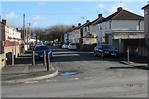 ST3186 : ENE along Lime Close, Newport by Jaggery