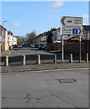 ST3186 : Mendalgief Road direction signs, Newport by Jaggery