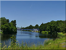 NS5964 : View downriver to St Andrew's Bridge by Stephen Craven