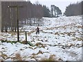 NT2641 : Cyclist in the snow, Kittlegairy Hill by Jim Barton