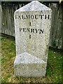 SW7933 : Old Milestone off Old Hill, Falmouth by Rosy Hanns