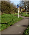 ST3086 : Wales Coast Path and Cycle Route 4, Docks Way, Newport by Jaggery